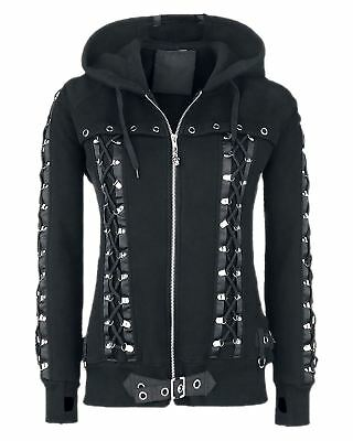Banned Apparel Gothic Laced Hoodie Jacket Black