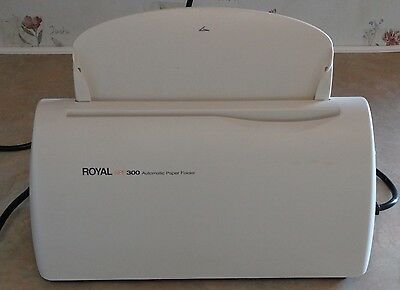Royal APF 300 Automatic Paper Folder 3 pages