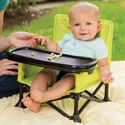 Summer Infant Booster Seat Pop N Sit - Green - NEW