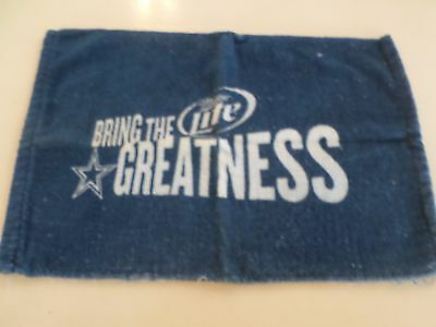 Miller Lite Bring the Greatness Dallas Cowboys Star Bar Towel