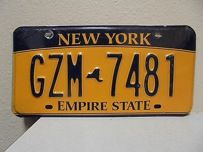 2012 New York Empire State Gold License Plate Gzm 7481 9380 Used