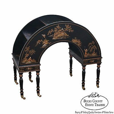 Unusual Custom Chinoiserie Painted Arch Etagere Trolley