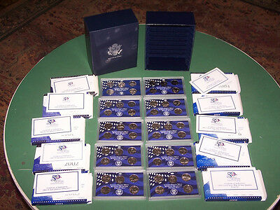 Complete 50 Coin State Quarters Proof Set 1999 - 2008 in Box w COA/US Mint/25c