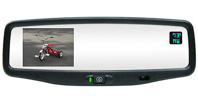 NEW Autodim Compass Temp Backup Camera Mirror For 2007-2010 Hummer H2 H3 H3T
