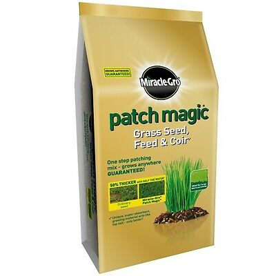 7kg Miracle-Gro Patch Magic Grass Seed Feed and Coir Mix Superior Quality