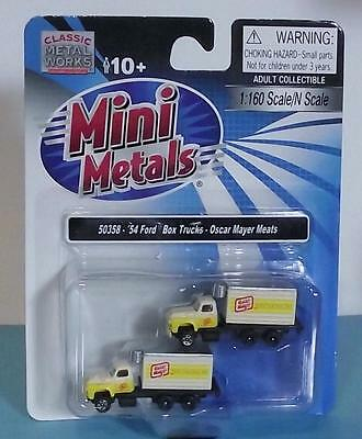 N Scale-Classic Metal Works-50358-1954 Ford Box Truck-Oscar Mayer Meats