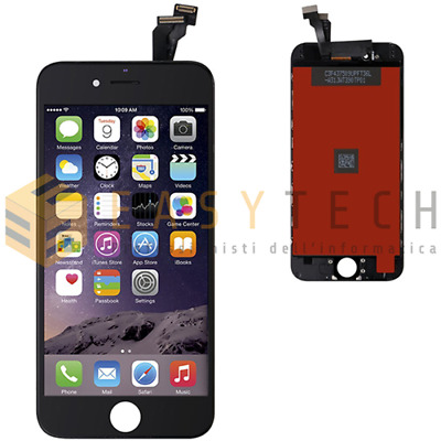 Touch Screen + Lcd Display Retina + Frame Per Apple Iphone 6 Vetro Schermo Nero