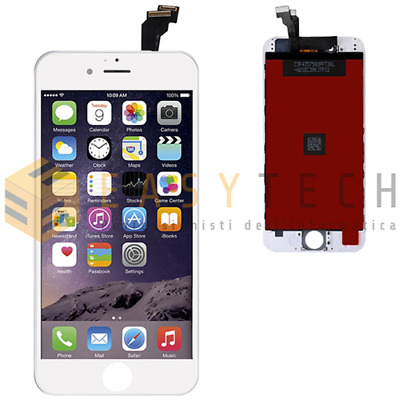 Touch Screen + Lcd Display Retina Frame Per Apple Iphone 6 Vetro Schermo Bianco