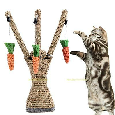 Pet Cat Toys Interactive Tree Tower Shelves Climbing Frame Scratching Post New