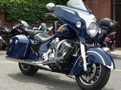2014 Indian Chieftain In Blue With Only 6482 Miles