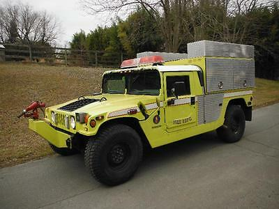 1997 HUMMER H1 BRUSH FIRE TRUCK 4SP TURBO 34K CTIS M998 M923A2 military