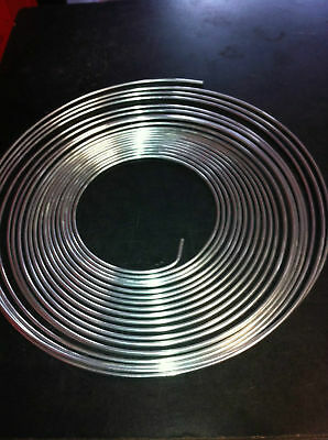 "Bundy Tube 5/16""  Zinc Coated 5Meter  Roll Stainless Look"