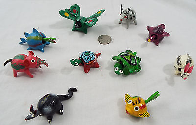 Lot of 10 Assorted Bobble Head Animals Various Colors Fish Reindeer Butterfly