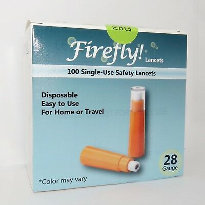 FireFly! 100ct Safety Lancets