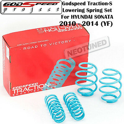 """Godspeed Tractions-S Lower Lowering Spring Drop 1.3/""""//1.5/"""" for Ford Fiesta 11-16"""