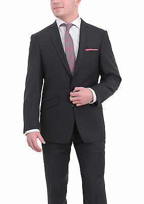West End By Simon Carter Slim Fit Navy Blue Check Two Button Wool Blend Suit