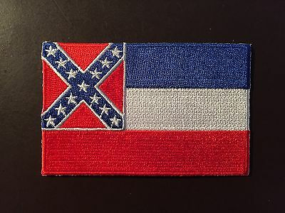 State of Mississippi flag historical collectors patch -vintage colors - Ole Miss