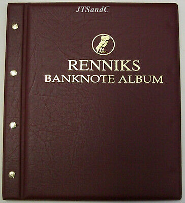 New Renniks Banknote Album - Red Cover
