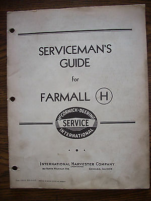 IH Farmall Mccormick International H Service Manual