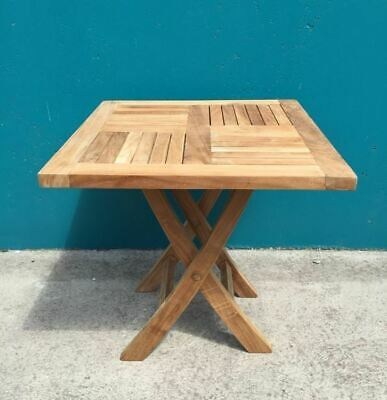 Solid Teak Outdoor Folding Picnic Table 50cm PRE-ORDER