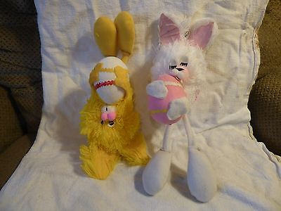 Bunnies Vintage Set Of Two Whimsical Dolls