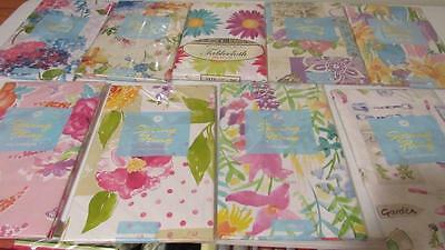 Vinyl Tablecloth Flannel Back Floral Designs 11 Styles UPick Spring Summer NEW