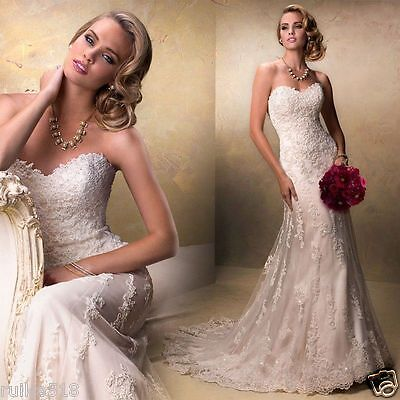 2017 new mermaid lace strapless elegant bridal party dress wedding stock size