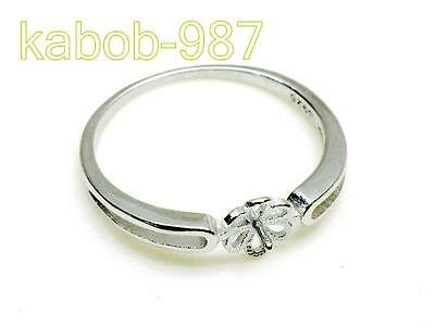 18K White Gold 925 Sterling Silver 6-13mm Pearl Ring Setting FInding Jewelry