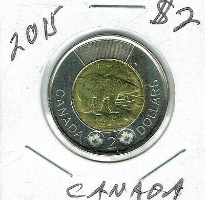 2015 Canadian Brilliant Uncirculated $2 Toonie coin!
