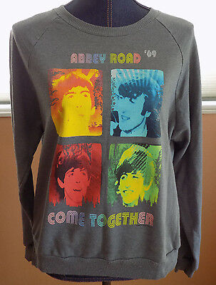 The Beatles Abbey Road '69 Come Together Grey Sweatshirt Womens Sz XL Rock Band