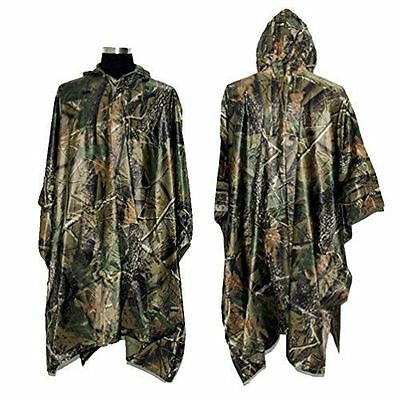 CAMO Hooded WATERPROOF PONCHO Rain Coat Jacket Hunting Army Military Fishing AU