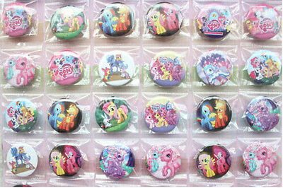 Lot 48pcs My Little Pony children Badge Button Pin 3mm kids gifts