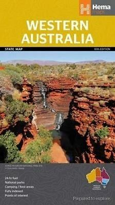 HEMA MAP WESTERN AUSTRALIA STATE MAP 10th Ed - TOURING - CAMPING - 4X4