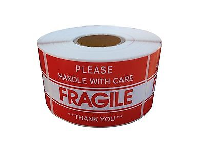 "FRAGILE STICKER 2"" x 3"" FRAGILE HANDLE WITH CARE Stickers USPS SHIP FAST US SELL"