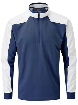 Ping Hudson Fitted Half Zip - Navy/White