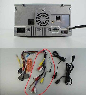 Alpine IVE-W585Bt New Pre Out Rca Sub Video Harness Lead Wiring Loom