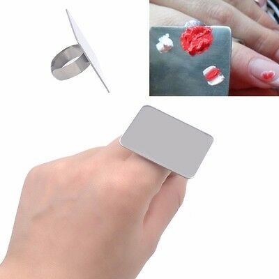 Stainless Steel Palette Ring Nail Art Cosmetic Makeup Mixing Paint Manicure Tool