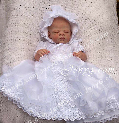 CRW7 Baby Christening Baptism First Holy Communion Formal Prom Bonnet Gown Dress