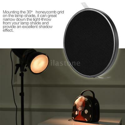 """16.8CM 30° Honeycomb Grid for 7""""Standard Reflector Diffuser Lamp Shade Disc W4Z7"""