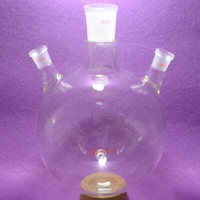 5000ML Round bottom Flask,3 necks,Middle neck 40/38,side neck 24/29,heavy wall