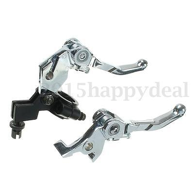 Clutch Brake Grip Lever Set For 110cc 125cc 140cc 160cc Pit Dirt Bike Quad ATV
