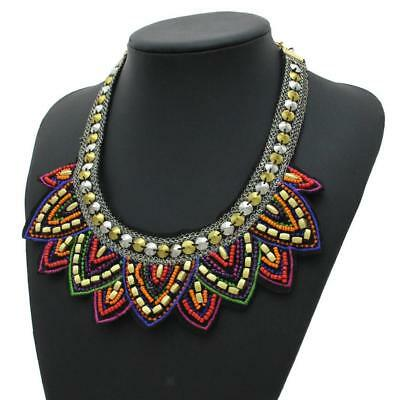 Bib Necklace Choker Collar for Party Evening Club Vintage Lady Ornaments