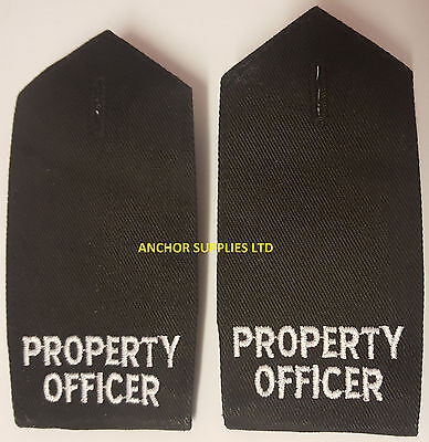 2 Sets x Property Officer Epaulettes Button On 2 Pairs Supplied (E17)