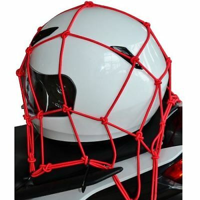 Oxford Motorcycle Bike Cargo Net Essential Elasticated Luggage Net Red New