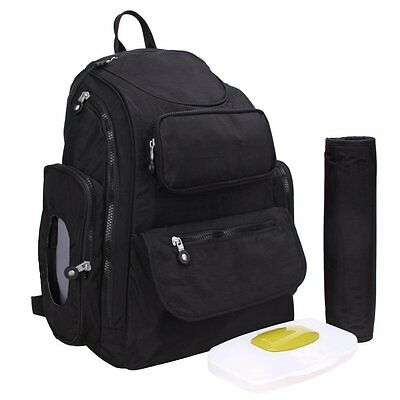 LakeRom Multifunction Large Capacity Baby Diaper Nappy Bags Backpack with Pad, &