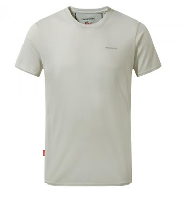 Craghoppers Mens Nosilife Active Wicking Breathable Base Layer T-shirt in Bone
