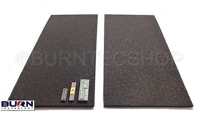 2 x Conductive foam Sheets 30 x 15cm Anti-Static Foam IC Chip ESD safe storage
