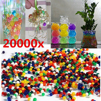 20000pcs Water Ball Crystal Pearls Jelly Gel Bead for Orbeez Toy Refill Colorful