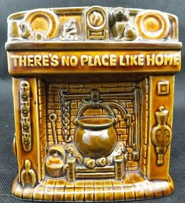 Treacle Glazed Szeiler Pottery Money Box c 1960's - There's No Place Like Home