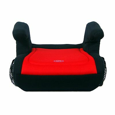 Safe Traffic System Delighter Booster Car Seat, Black/Red, One Size